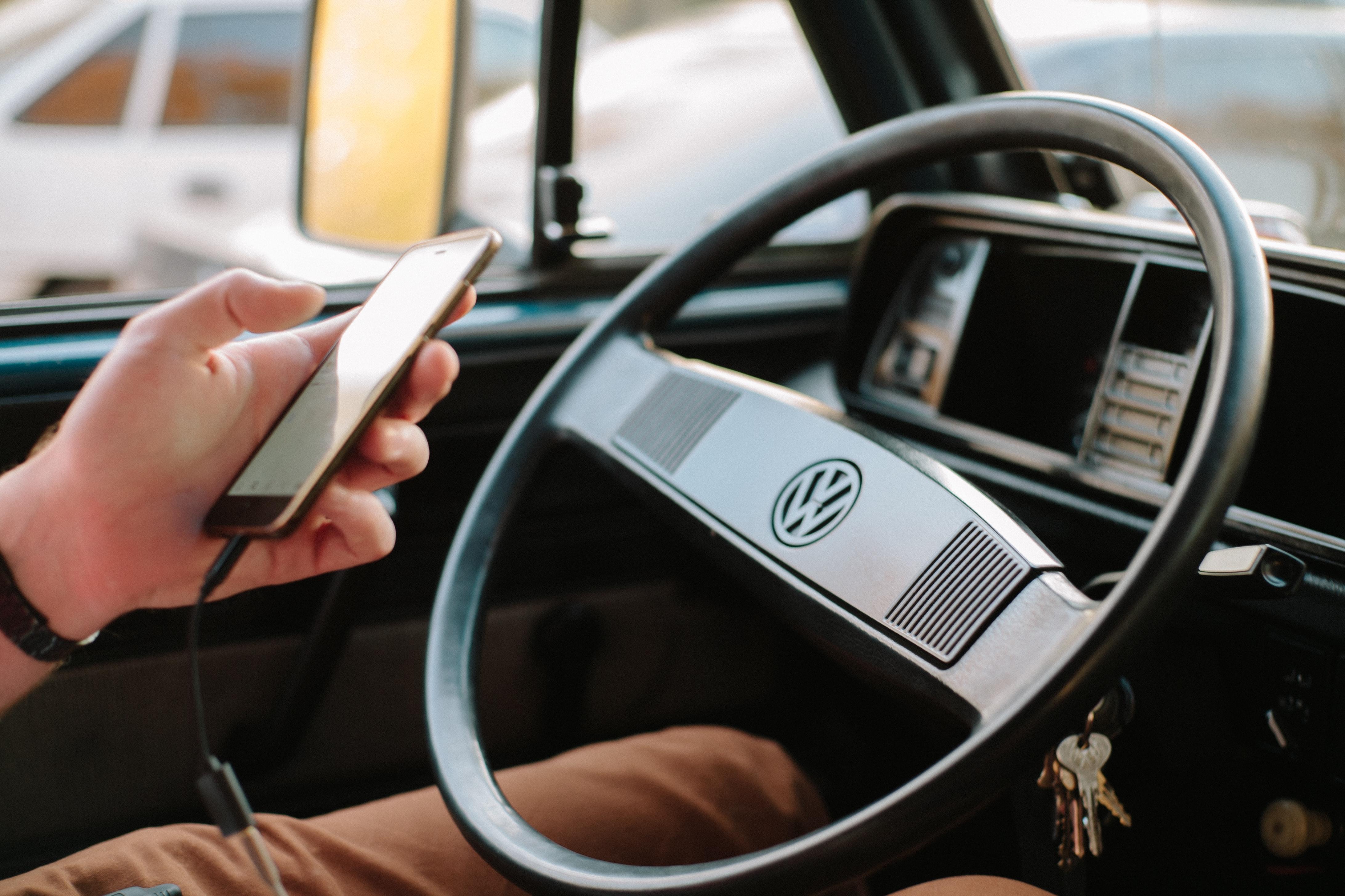 Phone in car